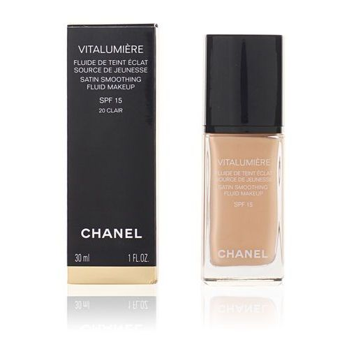 Chanel vitalumiere podkład w płynie odcień 20 clair (satin smoothing fluid make-up spf 15) 30 ml