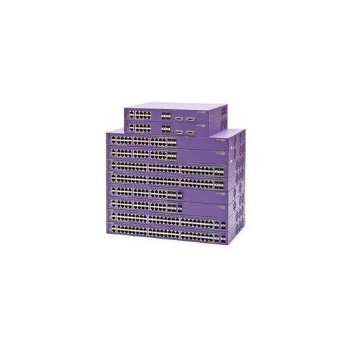 Switch summit x440-48p 48 10/100/1000base-t poe-plus, 4 1000base-x unpopulated sfp (4 sfp ports shared with 10/100/1000base-t ports), summit stack stacking ports, 1 ac psu, extremexos edge license, connector for external power supply marki Extreme networks
