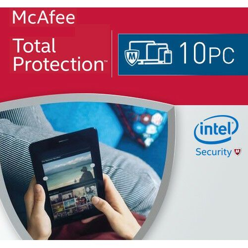 Mcafee total protection key 10 pc / 1 rok