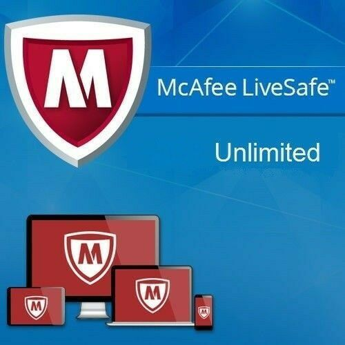 Mcafee livesafe unlimited / 1 rok