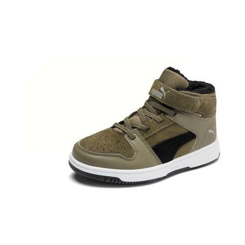 Puma buty Rebound Layup Fur SD V PS Burnt Olive - Black-Limestone - White 32, 37049802$13____